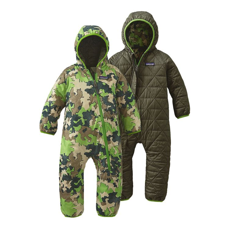 INFANT REVERSIBLE PUFF-BALL BUNTING, Sycamore Camo: Hydro Green (SCHG)