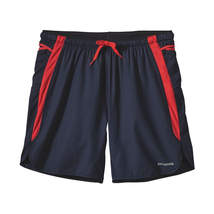 M'S STRIDER PRO SHORTS - 7 IN., Tumalo Grid: Navy Blue (TMNV)