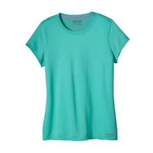 W'S S/S FORE RUNNER SHIRT, Howling Turquoise (HWLT)
