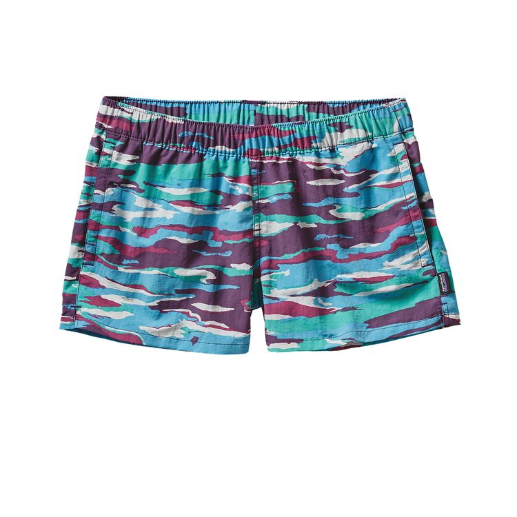 W'S BARELY BAGGIES SHORTS, Rainbow Bark: Panther Purple (RBPP)