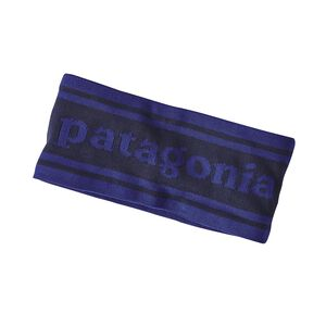 Lined Knit Headband, Park Stripe Band: Navy Blue (PRKN)