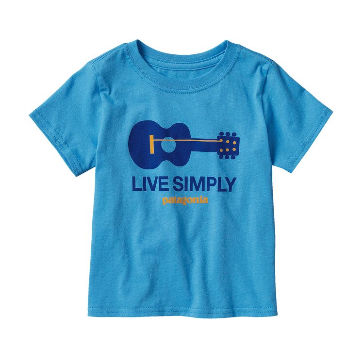 BABY LIVE SIMPLY GUITAR COTTON T-SHIRT, Electron Blue (ECTB)