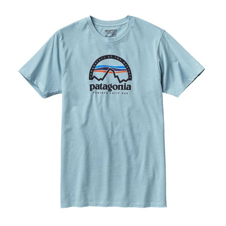 M'S ARCHED LOGO COTTON/POLY T-SHIRT, Tubular Blue (TUBL)