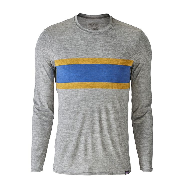 M'S CAP DAILY L/S GRAPHIC T-SHIRT, Rugby Stripe: Feather Grey (RSFE)