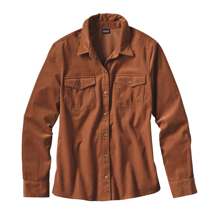 W'S L/S MICRO CORD SHIRT, Saddle (SDL)