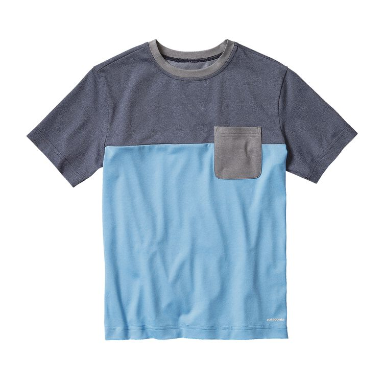 BOYS' CAP DAILY COLORBLOCK TEE, Electron Blue (ECTB)