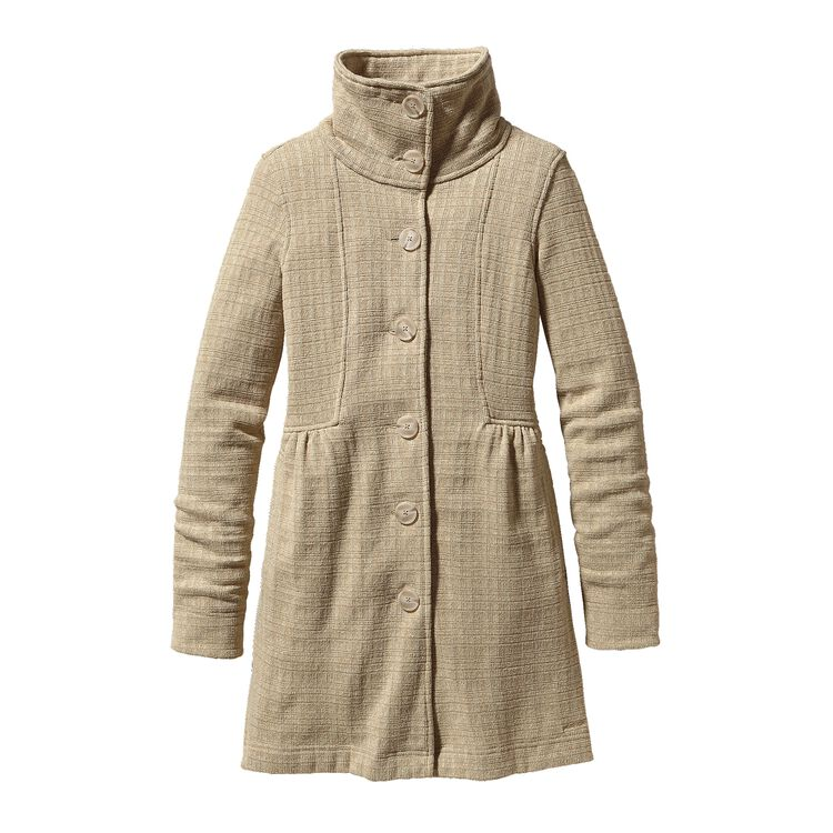 W'S BETTER SWEATER COAT, Tinsmith Grid: Bleached Stone (TNBS)