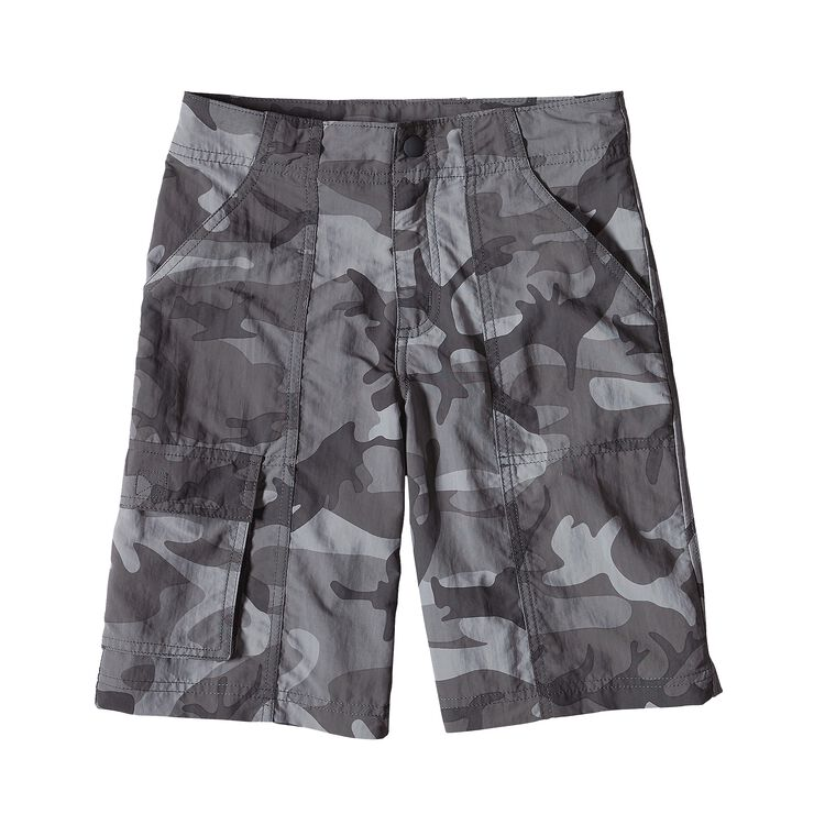 BOYS' BAGGIES CARGO SHORTS, Forest Camo: Forge Grey (FCFG)
