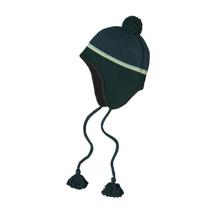 EAR FLAP HAT, Skyline Stripe: Arbor Green (SYAG)