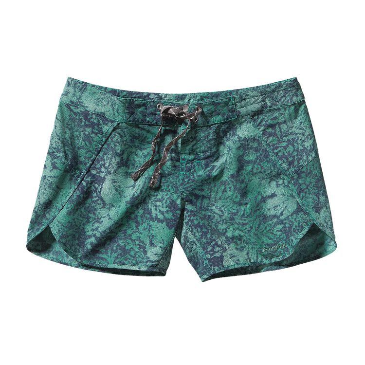 ウィメンズ・ウェーブフェアラー・ボード・ショーツ(股下13cm), Reverse Hawaiian: Emerald (RVEM)