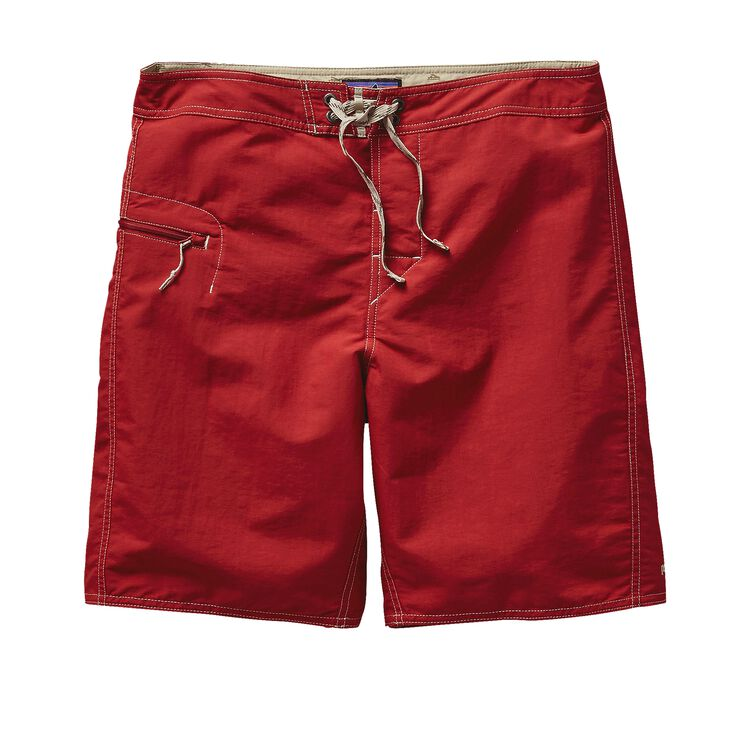 M'S SOLID WAVEFARER BOARD SHORTS - 19 IN, Classic Red (CSRD)