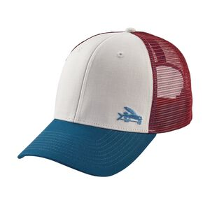 Small Flying Fish Trucker Hat, White w/Big Sur Blue (WBSB)