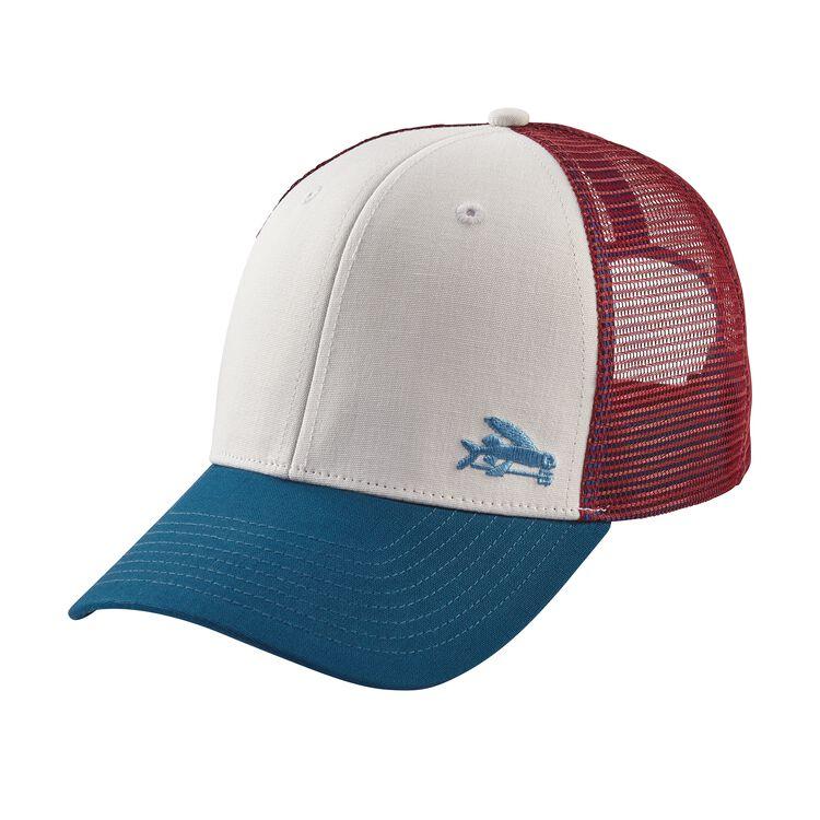 スモール・フライング・フィッシュ・トラッカー・ハット, White w/Big Sur Blue (WBSB)
