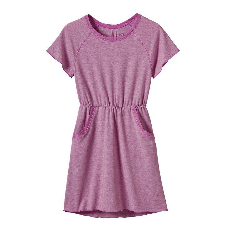 GIRLS' FLEURY DRESS, Mock Purple (MCKP)