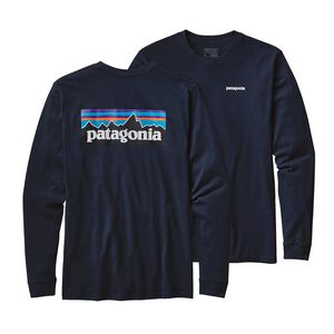 M's Long-Sleeved P-6 Logo Cotton T-Shirt, Navy Blue (NVYB)