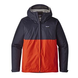 M's Torrentshell Jacket, Navy Blue w/Paintbrush Red (NPTR)