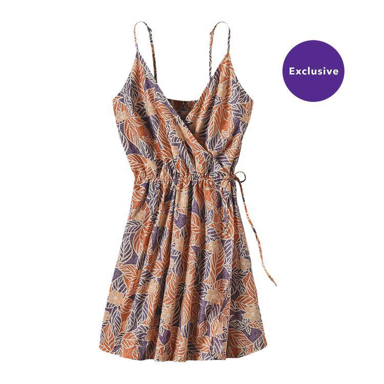 W'S PATALOHA CROSSOVER DRESS, Mountain Dogwood: Cusco Orange (MDCO)