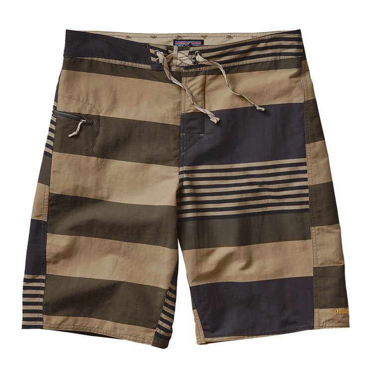 M'S PRINTED WAVEFARER BOARD SHORTS - 21, Harlequin: Fitz Stripe Ash Tan (HQZA)