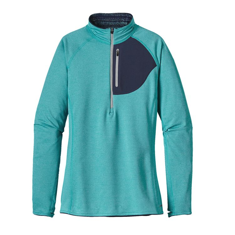 W'S THERMAL SPEEDWORK ZIP NECK, Epic Blue (EPCB)