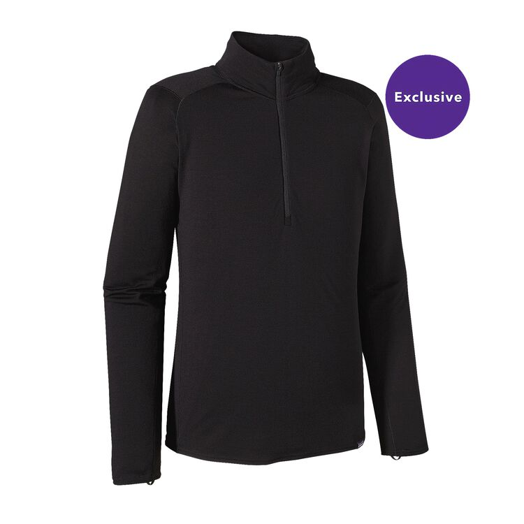 M'S MERINO TW ZIP NECK, Black (BLK)