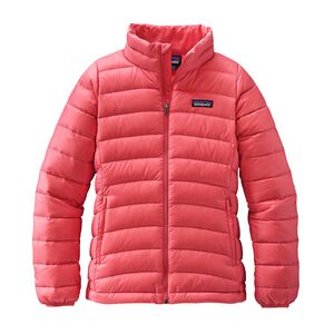 Girls' Down Sweater, Indy Pink (IDYP)