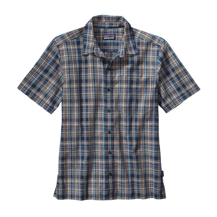 M'S PUCKERWARE SHIRT, Rose Valley: Navy Blue (RVNV)
