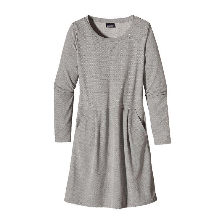 W'S ACTIVE HERRINGBONE DRESS, Feather Grey (FEA)