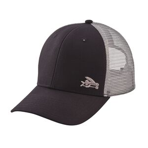 Small Flying Fish Trucker Hat, Black w/Drifter Grey (BKDG)