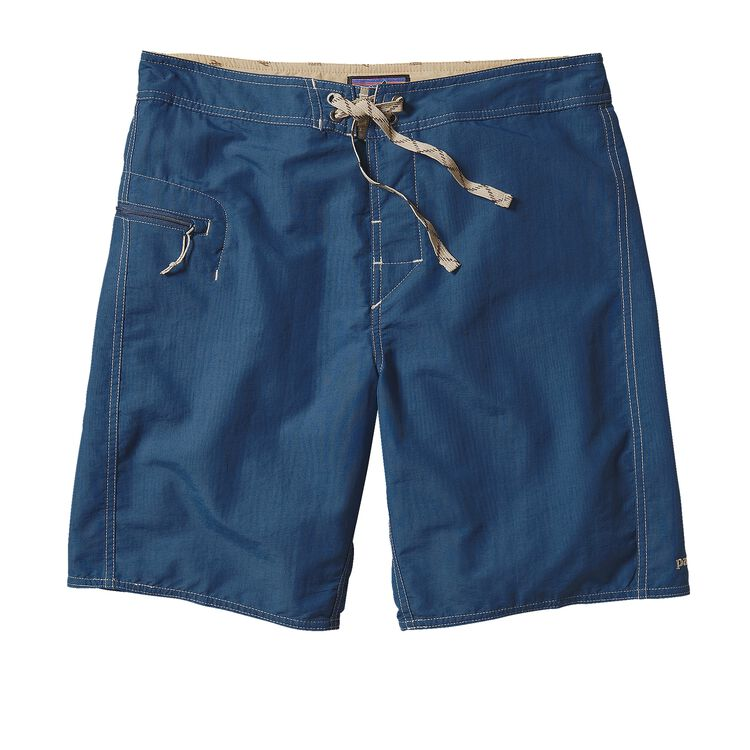 M'S SOLID WAVEFARER BOARD SHORTS - 19 IN, Glass Blue (GLSB)