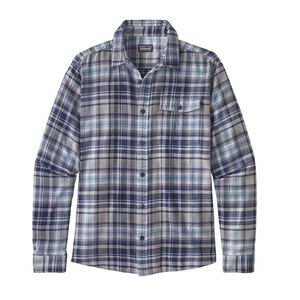 M's Long-Sleeved Lightweight Fjord Flannel Shirt, Rootsy: Classic Navy (ROOC)