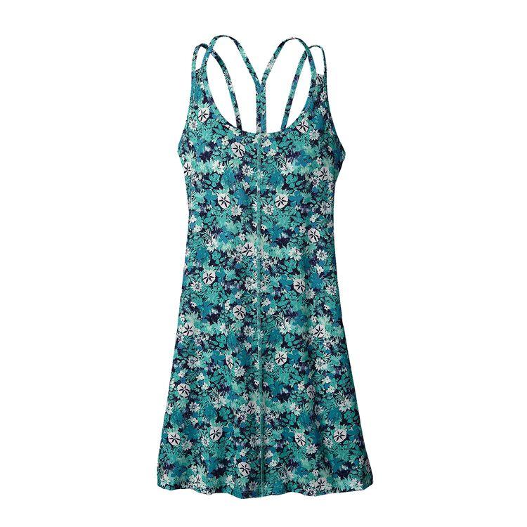 W'S LATTICEBACK DRESS, Neo Tropics Petite: Howling Turquoise (NPHT)