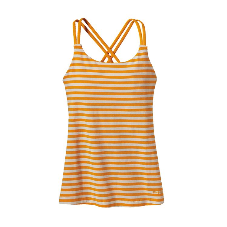 W'S CROSS BACK TANK, Vista Stripe: Sporty Orange (VSTO)