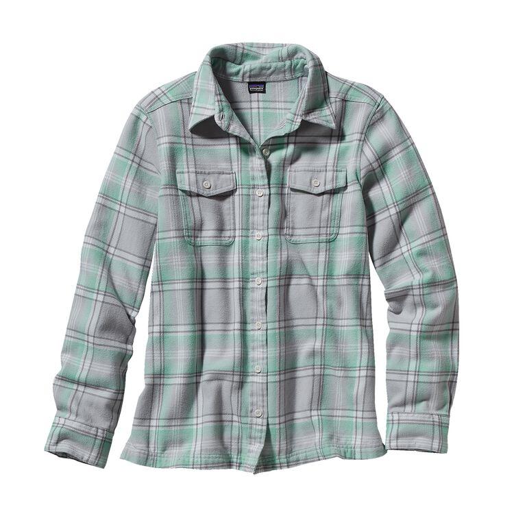 ウィメンズ・ロングスリーブ・フィヨルド・フランネル・シャツ, Handicraft: Tailored Grey (HFTY)