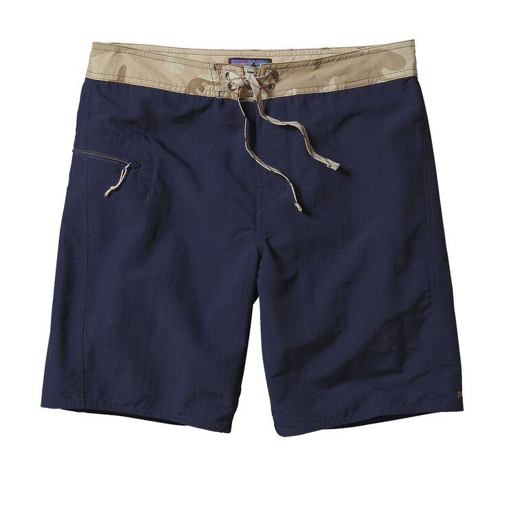 M'S SOLID WAVEFARER BOARD SHORTS - 19 IN, Navy Blue (NVYB)