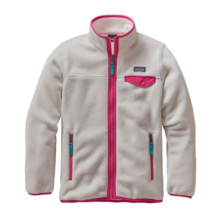 GIRLS' LW SYNCH SNAP-T JKT, Birch White (BCW)