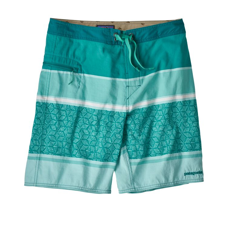 M'S WAVEFARER BOARDSHORTS - 19 IN., Batik Hex Stripe: Bend Blue (BAKB)