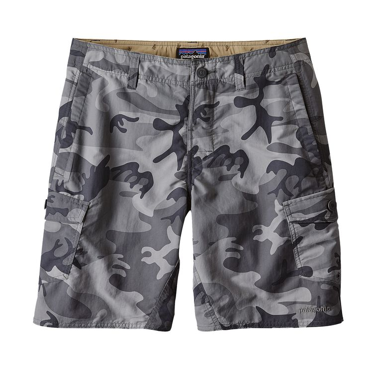 M'S WAVEFARER CARGO SHORTS - 20 IN., Forest Camo: Forge Grey (FCFG)