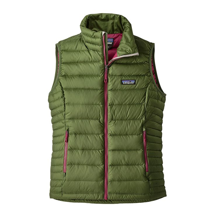 W'S DOWN SWEATER VEST, Buffalo Green (BUFG)
