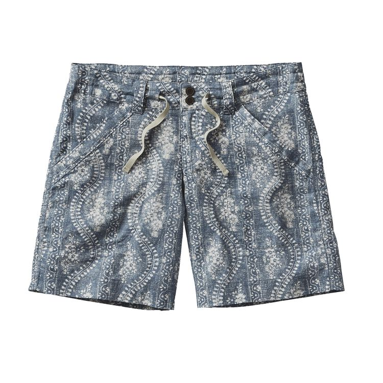 W'S ISLAND HEMP SHORTS, Folk Road: Catalyst Blue (FRCT)