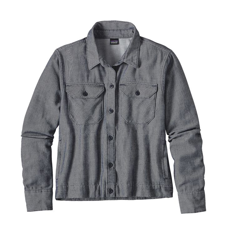 W'S IRON RIDGE SHIRT JKT, Chambray: Navy Blue (CBYN)