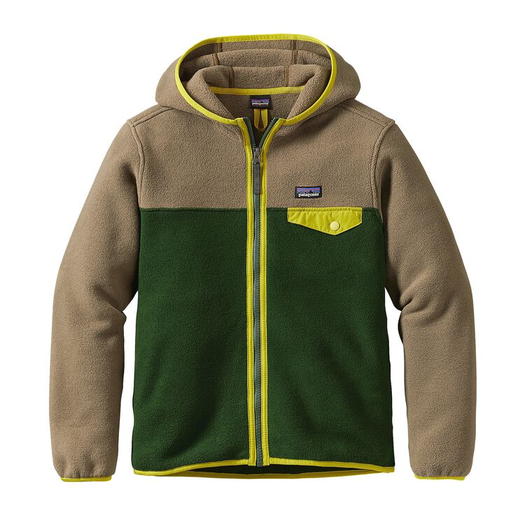 BOYS' LW SYNCH SNAP-T HOODY, Glades Green (GLDG)