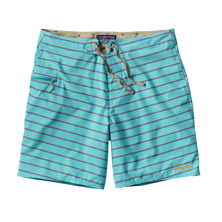 M'S PRINTED STRETCH PLANING BOARD SHORTS, Daybreak: Howling Turquoise (DYHQ)