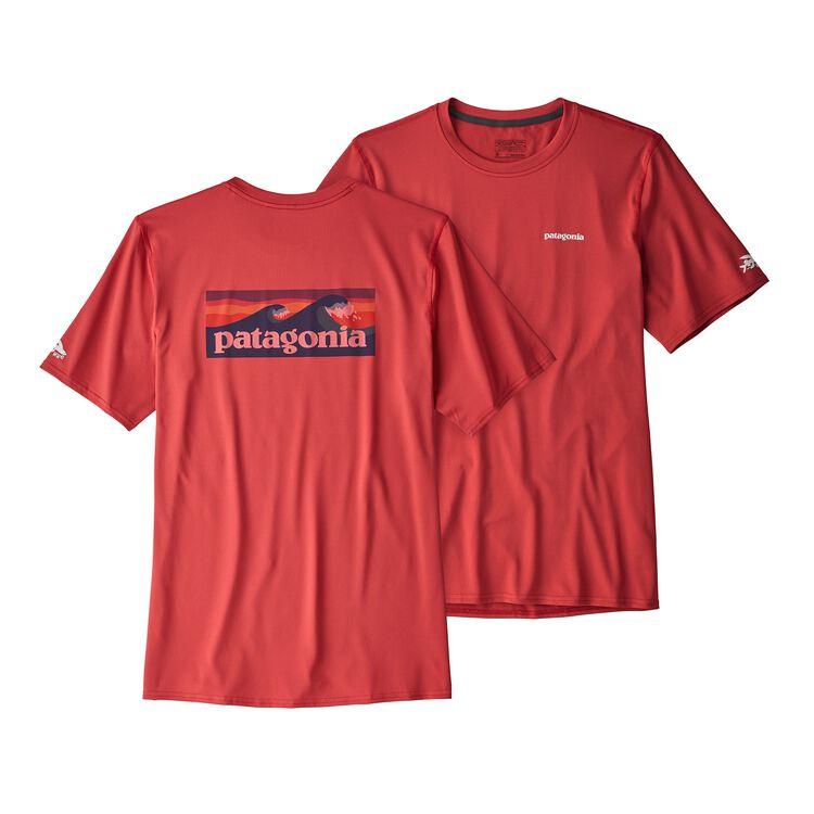 メンズ・RØ サン・ティー, Boardshort Logo: Static Red (BOLS)