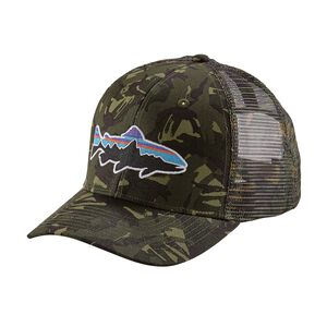 FITZ ROY TROUT TRUCKER HAT, Big Camo: Fatigue Green (BGCF)