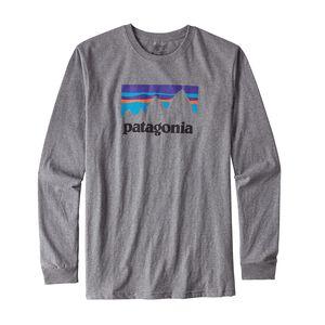 M's Long-Sleeved Shop Sticker Organic Cotton T-Shirt, Gravel Heather (GLH)