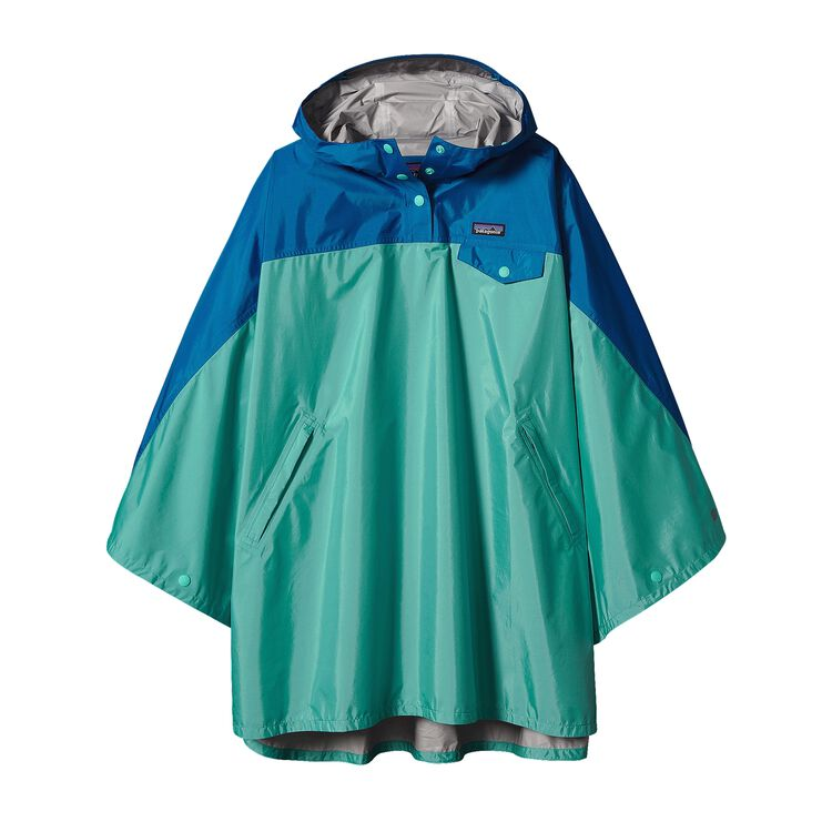 W'S TORRENTSHELL PONCHO, Howling Turquoise (HWLT)