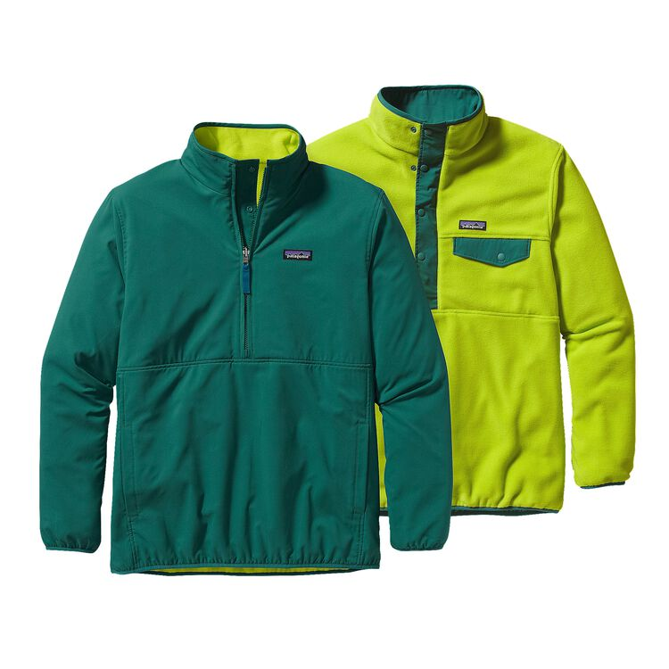 M'S REVERSIBLE SNAP-T GLISSADE P/O, Arbor Green (ABRG)