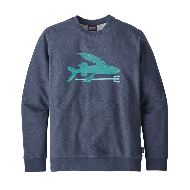 M'S FLYING FISH MW CREW SWEATSHIRT, Classic Navy (CNY)