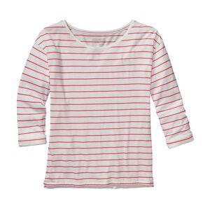 ウィメンズ・シャロウ・シーズ・トップ, Nettie Stripe: Shock Pink (NTSP)