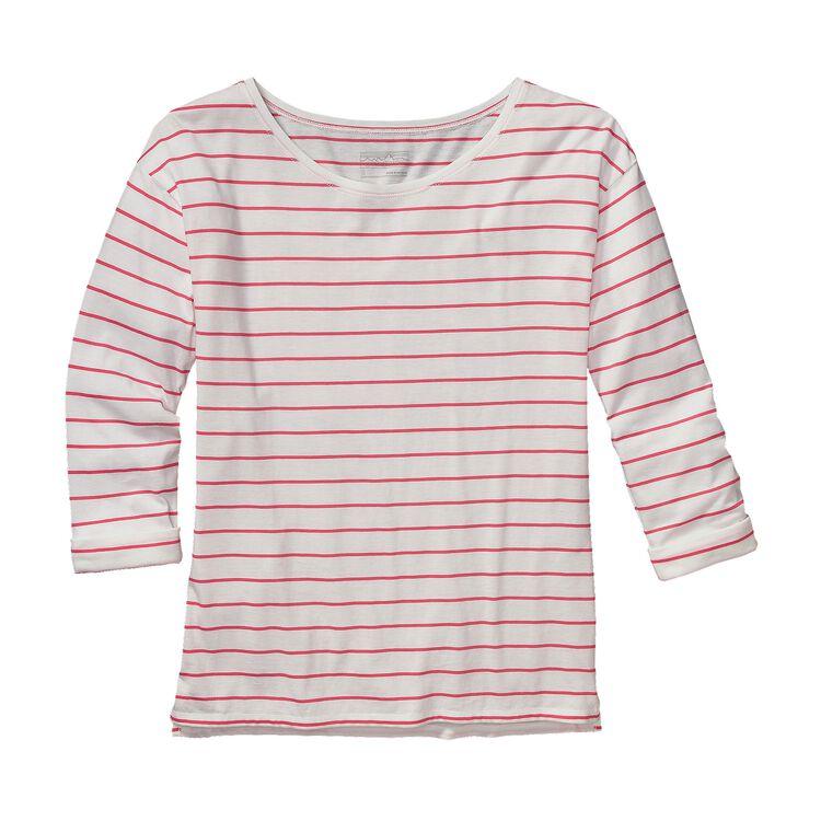 W'S SHALLOW SEAS TOP, Nettie Stripe: Shock Pink (NTSP)